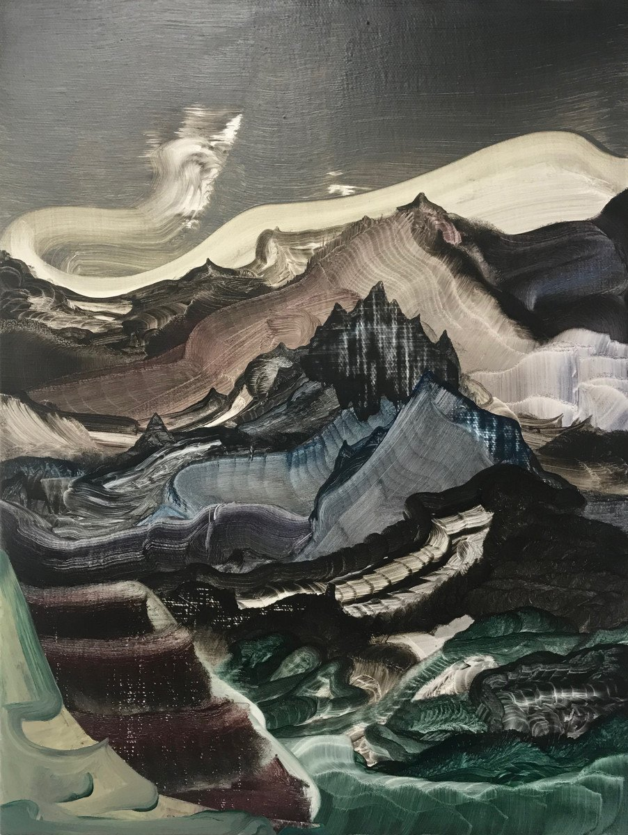 """This is an oil painting titled, """"Laughing Carcass"""" It was painted in 2018"""