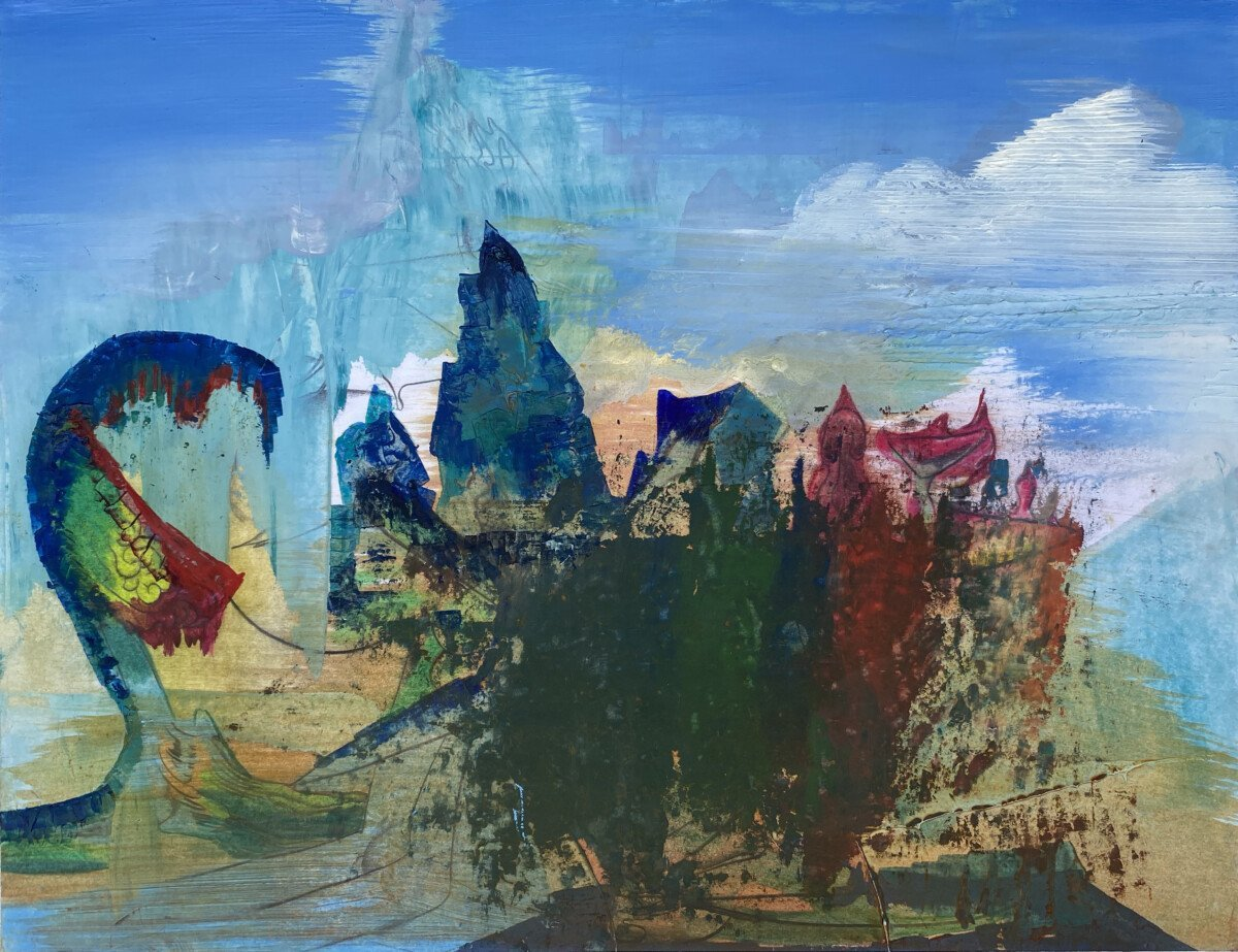 "This is a painting on paper titled, ""Citadel"" It was completed in 2020"